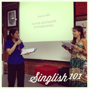 Tete-a-Tete's Learn Singlish 101 Workshop