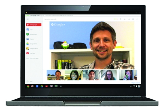 Google Hangouts and nifty tools on the sidebar!